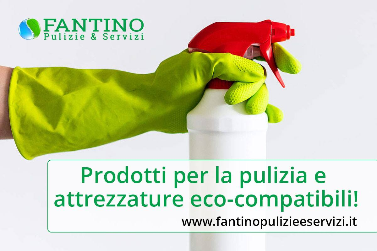 Prodotti per la pulizia e attrezzature eco-compatibili