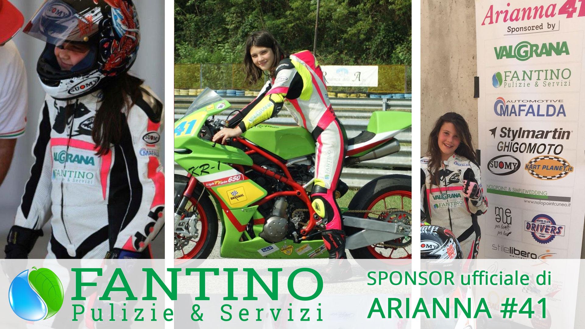 Anche quest'anno la Fantino Pulizie & Servizi è sponsor di Arianna # 41
